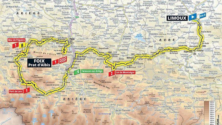 La 15e étape va frôler les Pyrénées-Orientales
