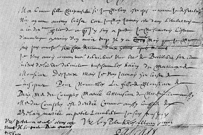 Une lettre de Blaise Pascal