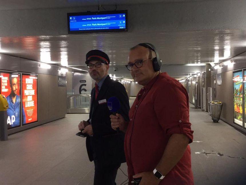 Contrôle des titres de transports avec Julien et Daniel Meloux en direct de la gare sncf de Rennes