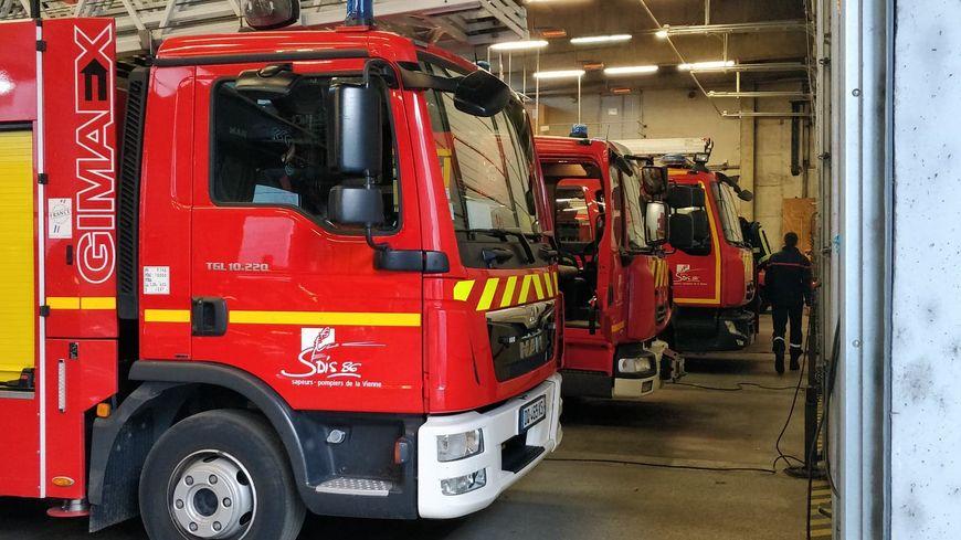 Camions de pompiers à Poitiers