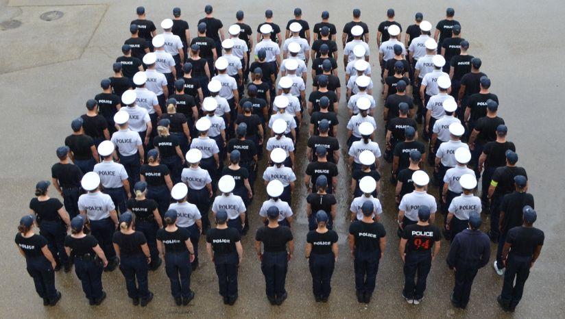 110 élèves de l'école nationale de police de Nîmes pour fêter le centenaire du maillot jaune