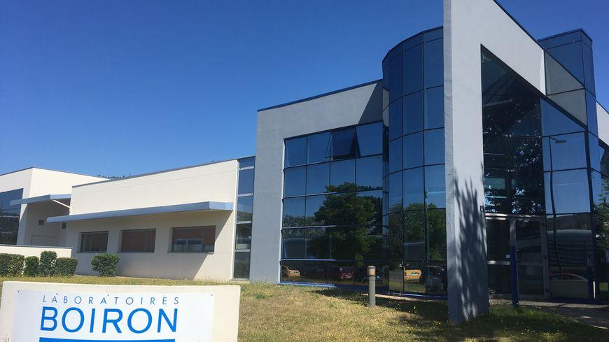 L'entrée du laboratoire Boiron à Rennes