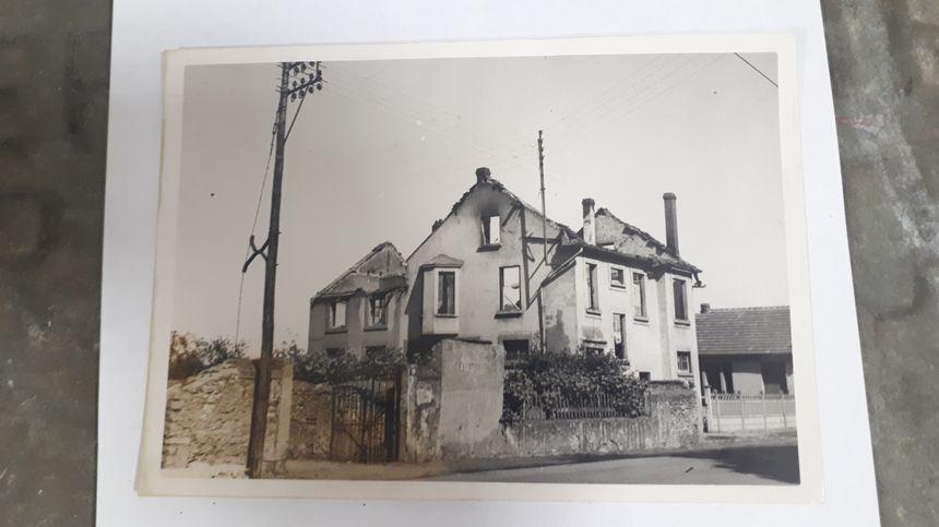 Une maison de Metz bombardée à l'été 1944