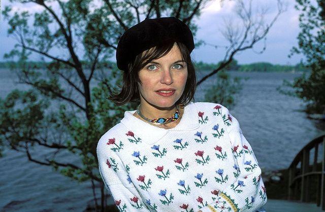 La chanteuse Diane Tell, 1996