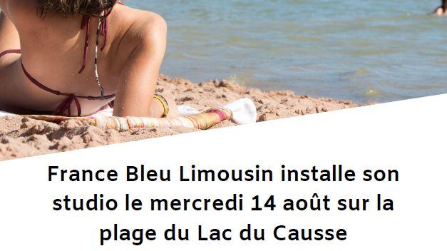 Affiche journée spéciale lac du Causse