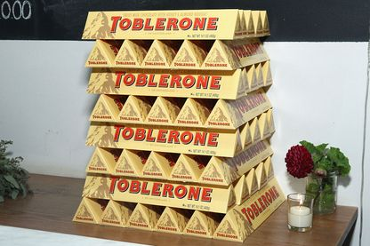 Tablettes de Toblerone en exposition
