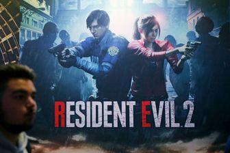 """Affiche du """"Resident Evil 2 - le remake"""", développé par la société Capcom, et présenté à la Paris Games Week, le 27 octobre 2018."""