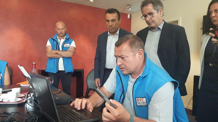 Le maire d'Arcachon Yves Foulon, le neurologue François Rouanet et Philippe Meynard, d'AVC tous concernés