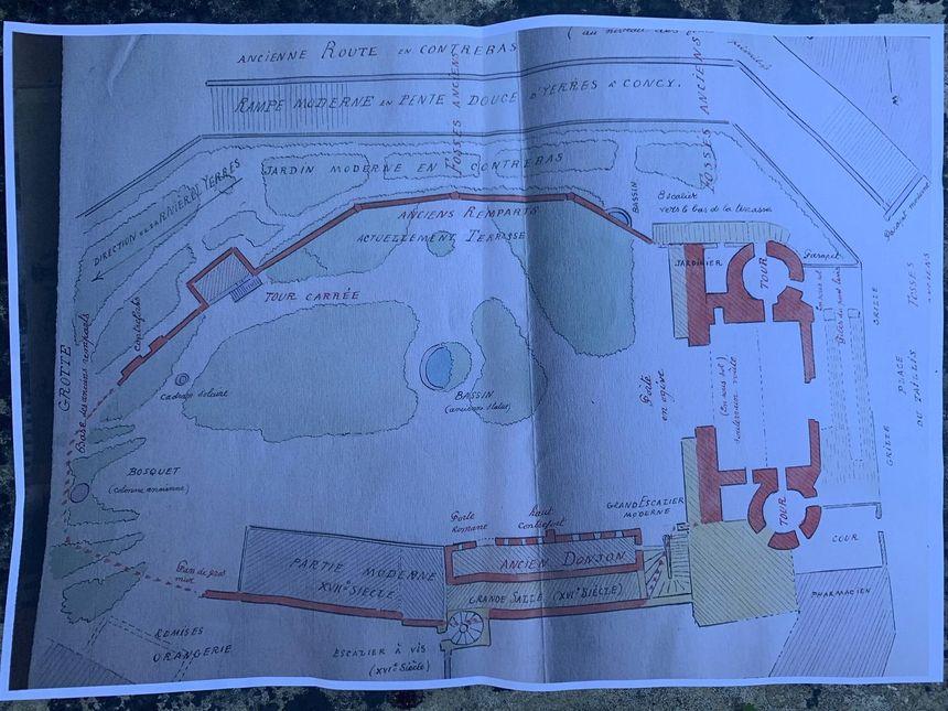 Plan du Château Budé