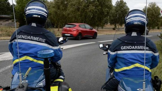illustration motards gendarmerie