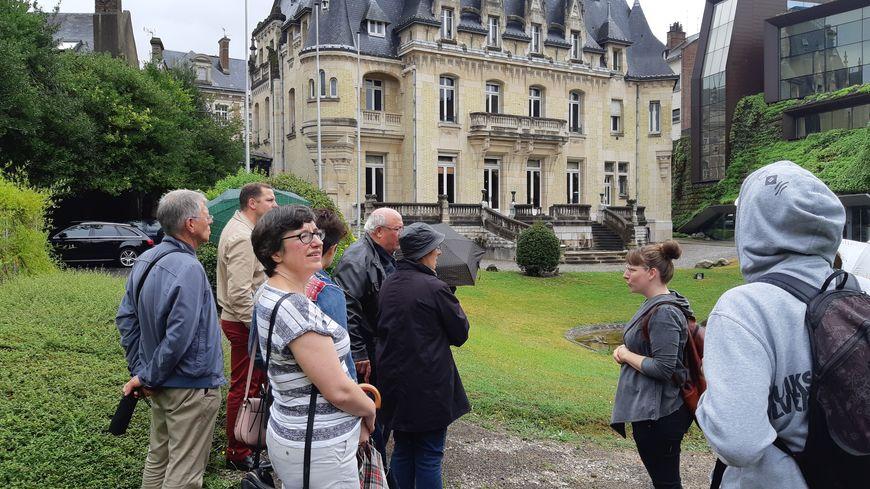 Les visiteurs ont eu accès au jardin