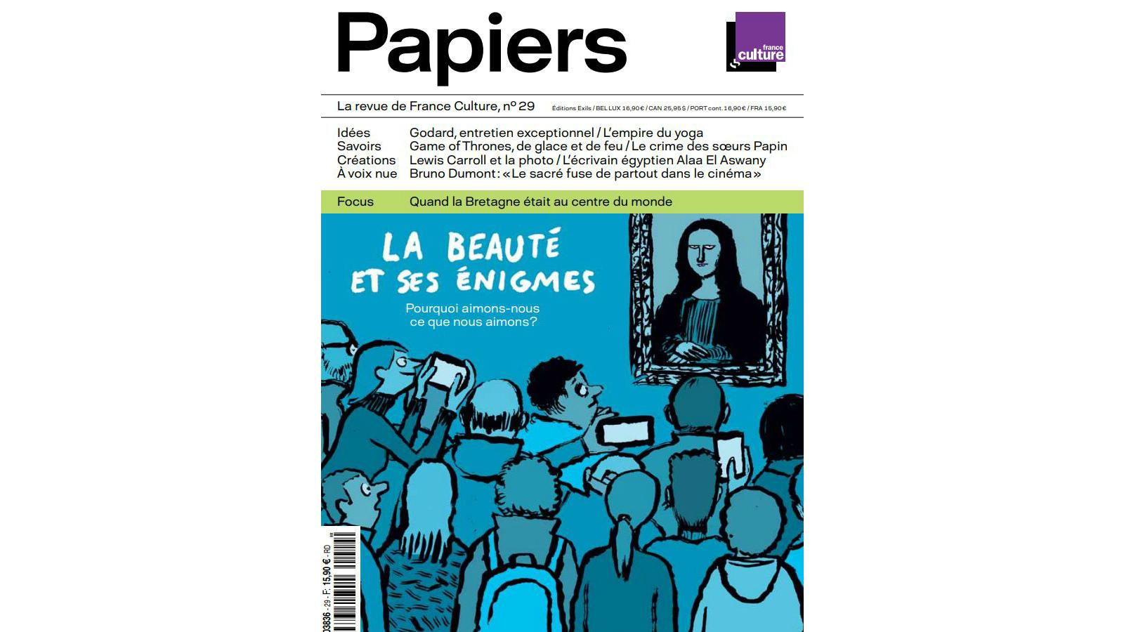 Papiers La Revue De France Culture La Beaute Et Ses Enigmes