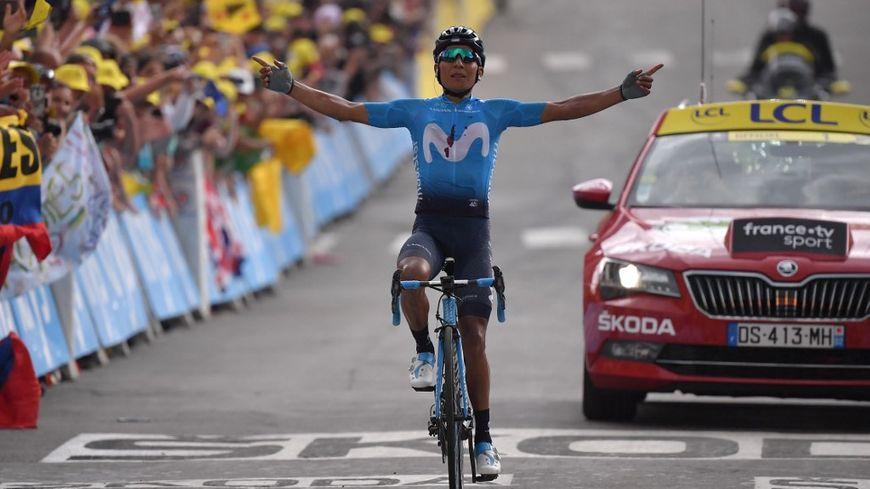 C'est la 3e victoire d'étape du Colombien sur le Tour de France.