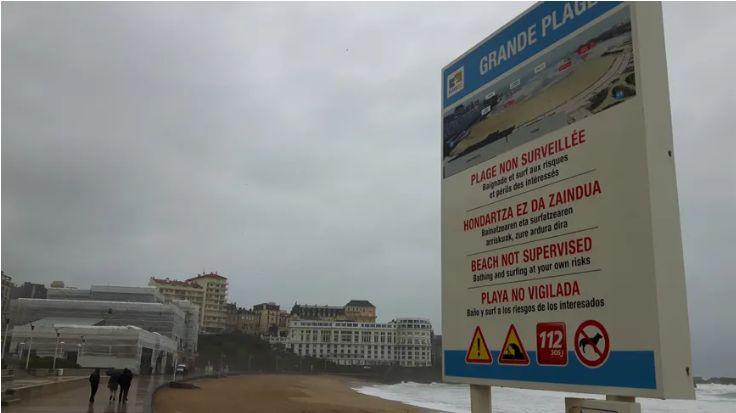 Plusieurs plages du Pays Basque sont fermées ce samedi à cause des fortes pluies.
