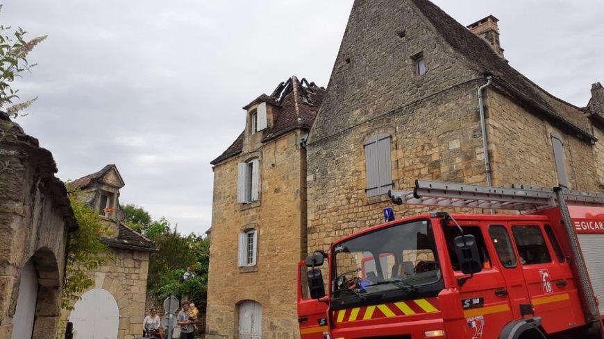 Les dégâts sont importants sur la toiture