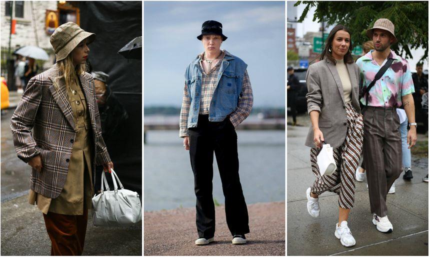 Retour du bob dans les arcanes de la mode, ici à la Fashion Week ! Moins protecteur qu'un chapeau, davantage qu'une casquette ... et plus classe qu'il n'y paraît.