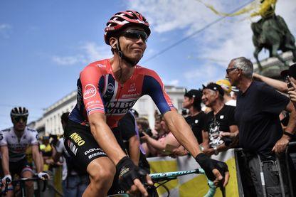 Amund Jansen sur le départ à Bruxelles pour le début du Tour de France