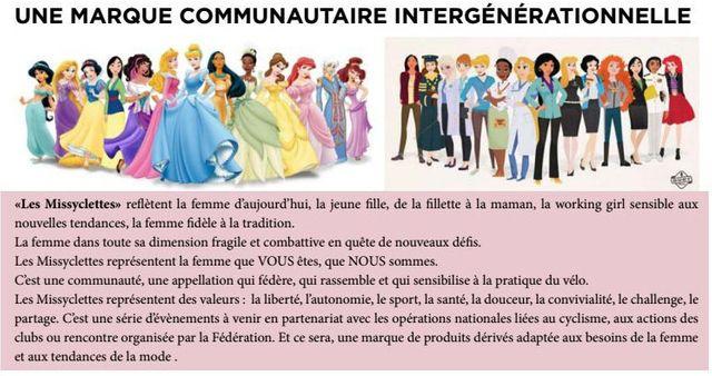 """Les """"Missyclettes"""" sont illustrées comme des princesses Disney"""