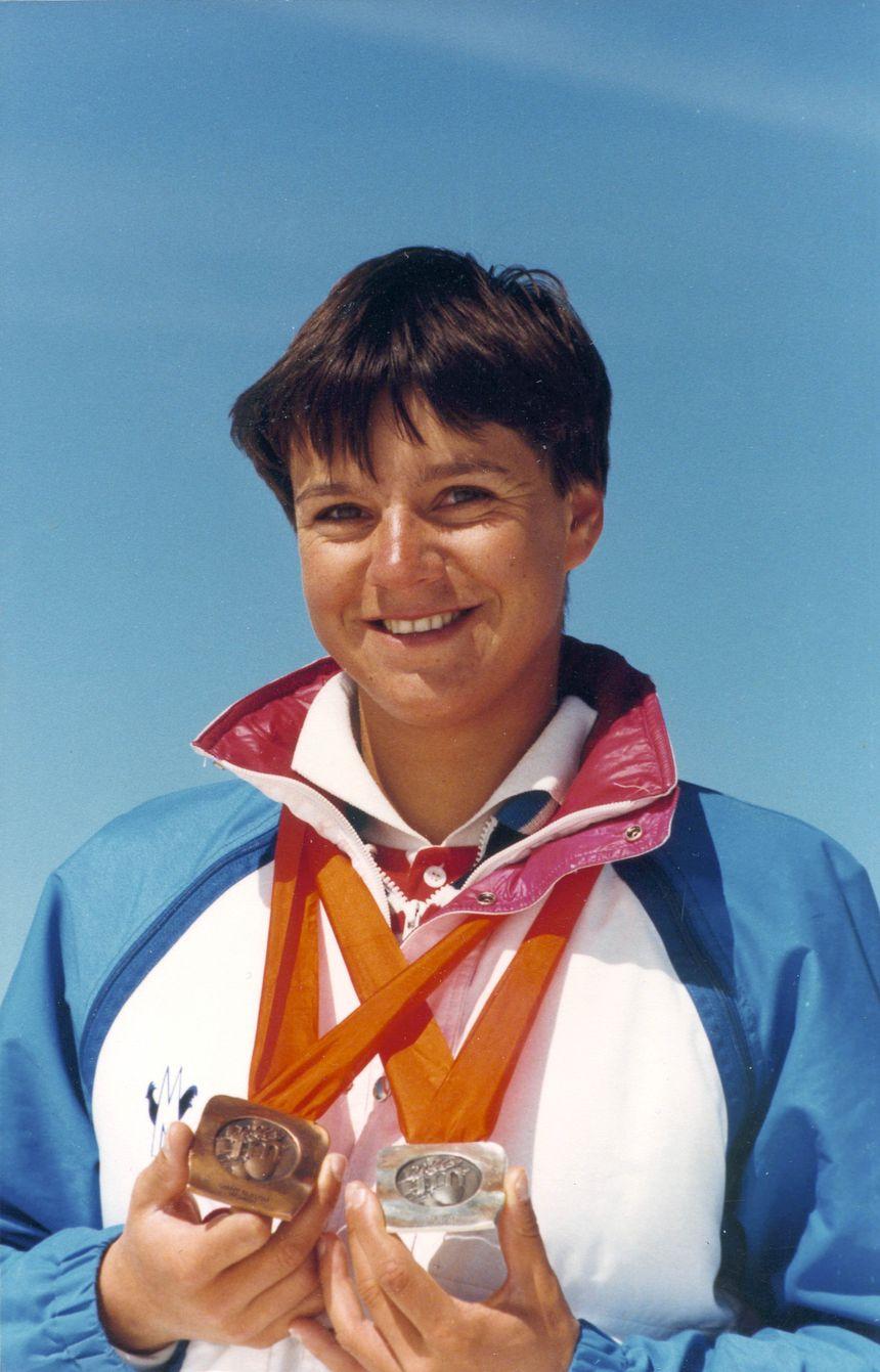 Perrine Pelen, double médaillée olympiques aux JO de Sarajevo en 1984