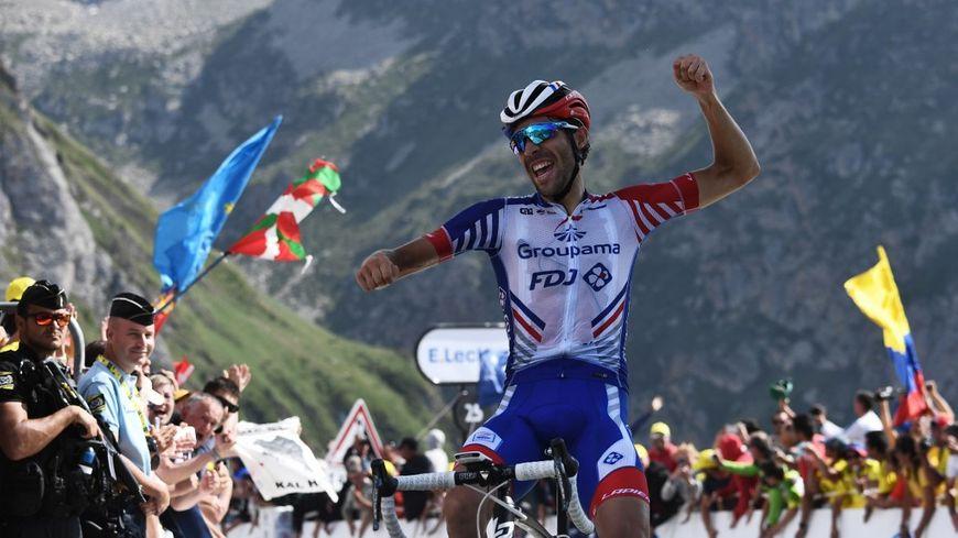 Le Français Thibaut Pinot vainqueur de cette 14e étape du Tour de France.