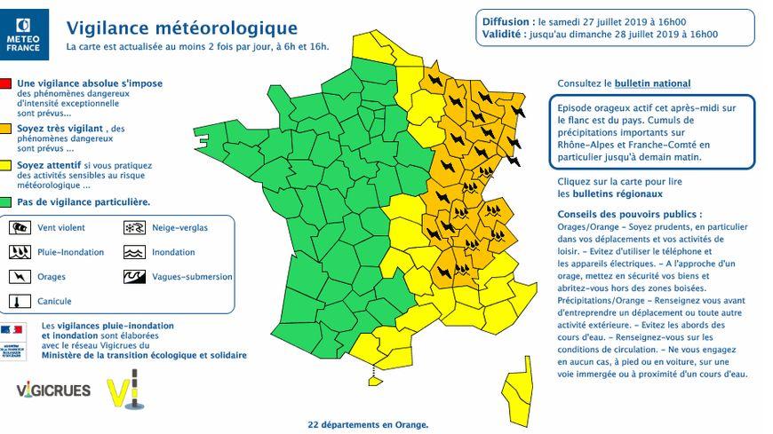 La Drôme et l'Ardèche encore en vigilance orange pour les orages et les pluies ce samedi soir