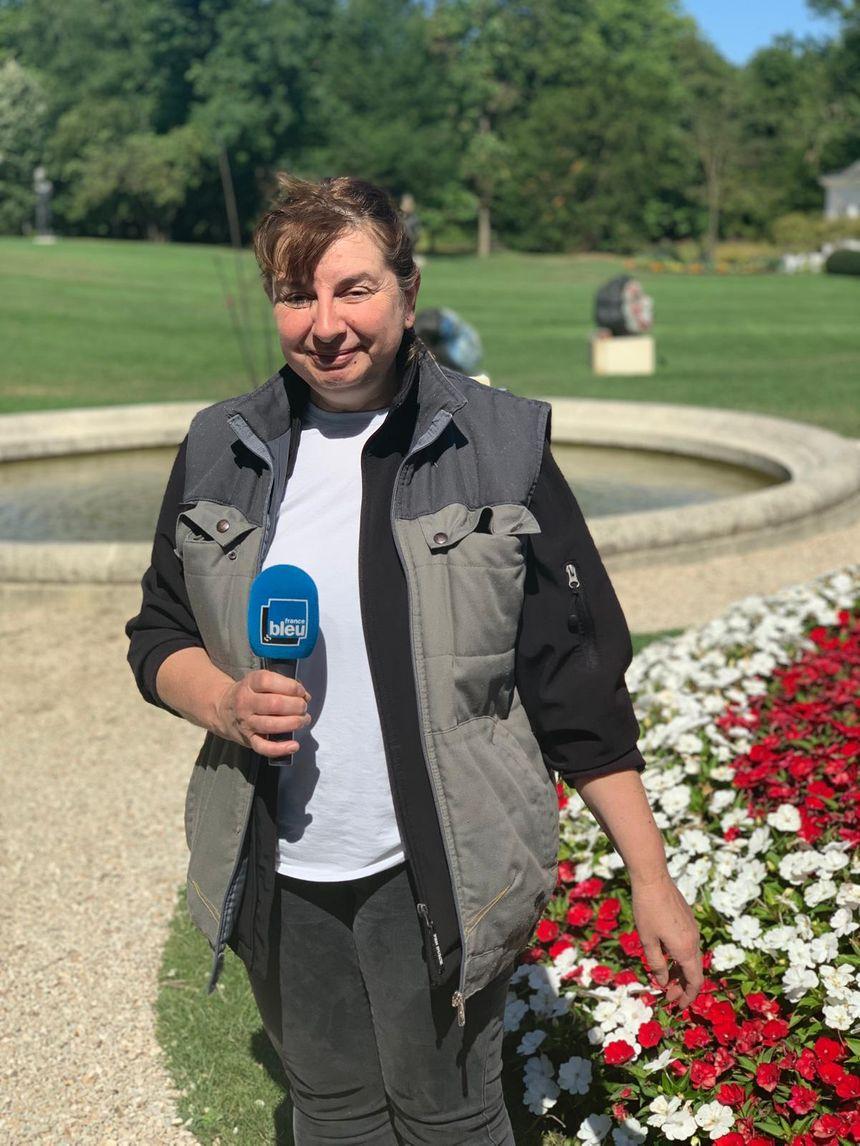 Cécile Lhuillier, responsable du Parc de la Propriété Caillebotte
