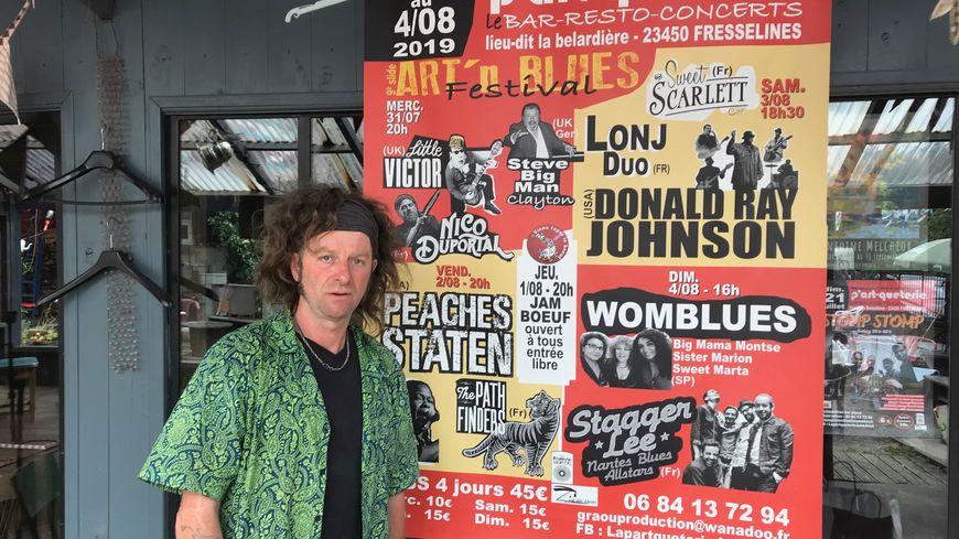Christophe Benoit et son épouse Frédérique ont fait venir des artistes internationaux pour la neuvième édition du festival Art'n'Blues à Fresselines.