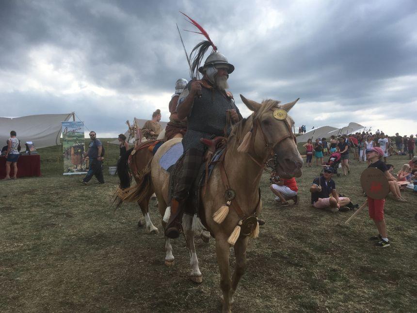 Les chevaux ont ensuite paradé sur le plateau de Gergovie