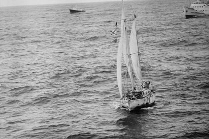 Robin Knox-Johnston premier vainquer du Golden Globe Challenge le 22 avril 1969