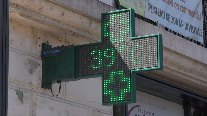 A 16H30, la température à l'ombre était supérieure à 39 degrés partout en Indre-et-Loire le 23 juillet 2019