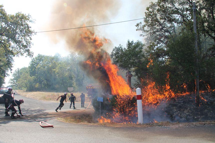 Les pompiers ont lutté dans des conditions de chaleur très difficiles