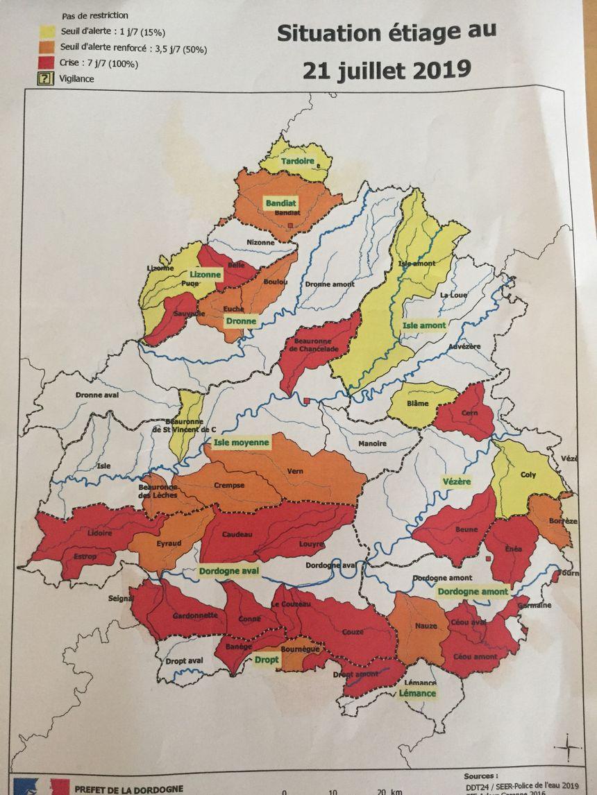 La nouvelle carte des restrictions d'irrigation