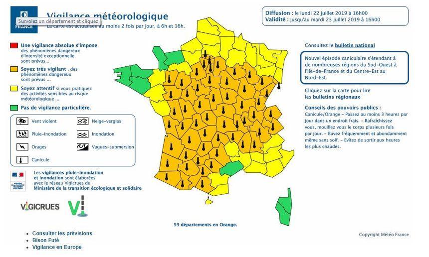 Alerte orange Météo France en Savoie et Haute-Savoie
