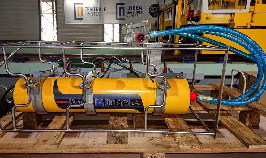 Un sonar utilisé pour des mesures autour des éoliennes offshore, similaire à celui utilisé pour les recherches dans la Loire