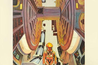 """Affiche promotionnelle de Robert Mccall pour le film (1968) """"Une odyssée de l'espace"""""""