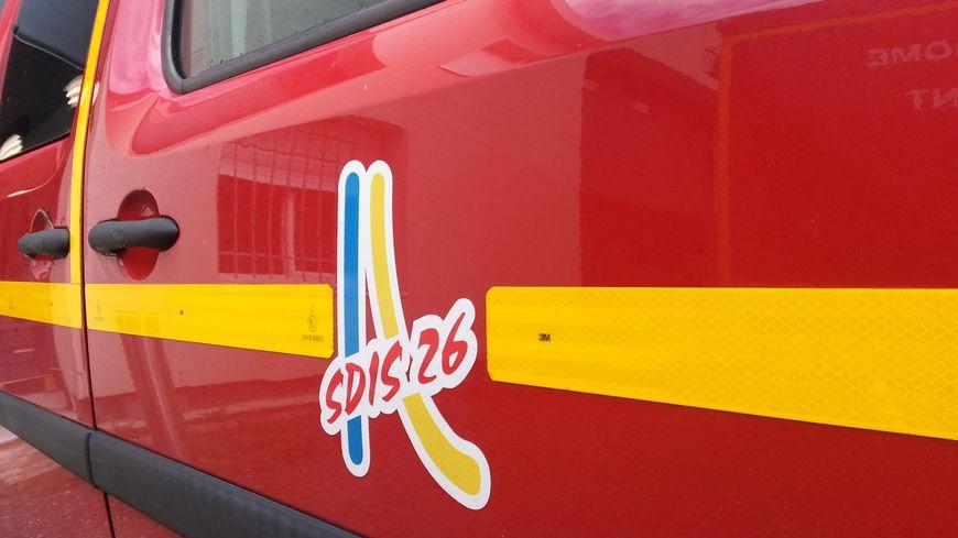 Un véhicule de pompiers dans la Drôme.