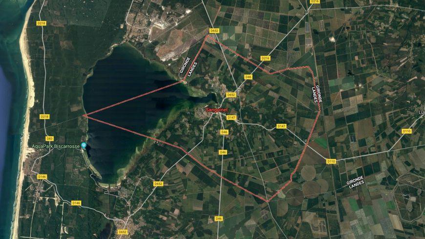 La commune de Sanguinet est située au nord-ouest des Landes.