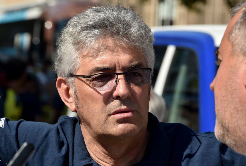 Marc Madiot, le directeur sportif de Groupama-FDJ, réagit à l'abandon de son leader, le Français Thibaut Pinot.