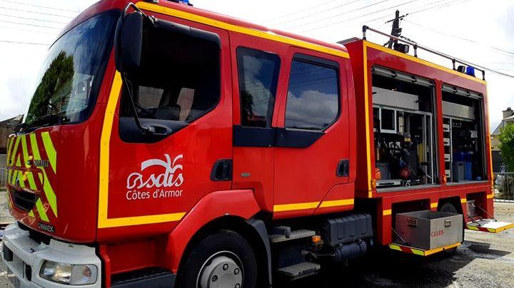 Véhicule des pompiers des Côtes d'Armor