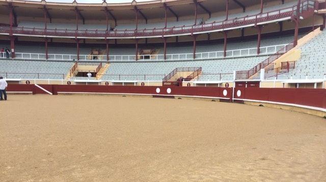 En raison des fortes pluies la piste des arènes de Bayonne est impraticable