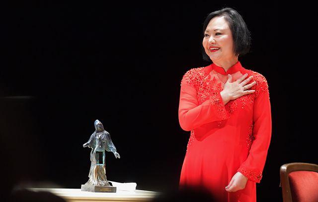 """Kim Phuc Phan Thi reçoit le """"Dresden Peace Award"""", février 2019"""