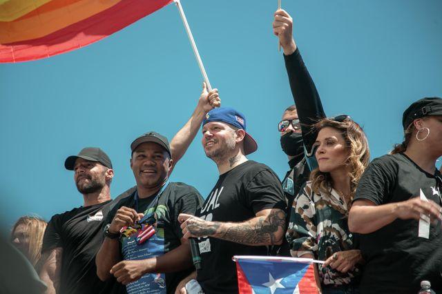 Le chanteur Ricky Martin a participé à la manifestation du 22 juillet à San Juan, capitale de Porto Rico