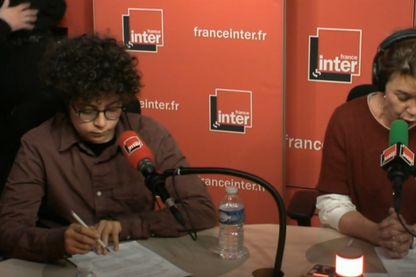 Mehdi Hmoudane durant la Revue de presse d'Hélène Jouan le 23 mars 2016