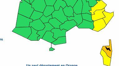 """La Corse placée en vigilance orange """"orages"""""""