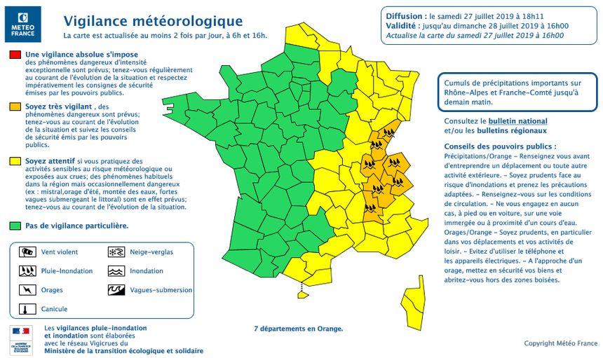 Le Doubs reste en vigilance orange pour la pluie et les inondations