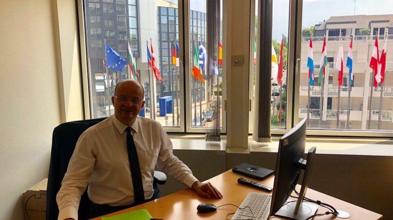 Christophe Grudler a fait ses premiers pas au Parlement Européen de Strasbourg ce lundi.