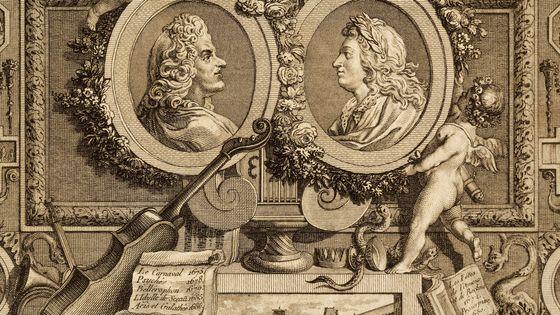 Portrait de Lully et Philippe Quinault