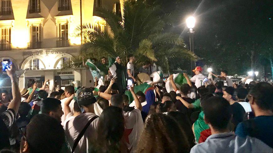 Des supporters algériens se sont retrouvés place Jean Jaurès