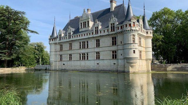 Au château d'Azay-le-Rideau, la fréquentation a chuté de 30% durant les 5 jours de canicule, fin juin.