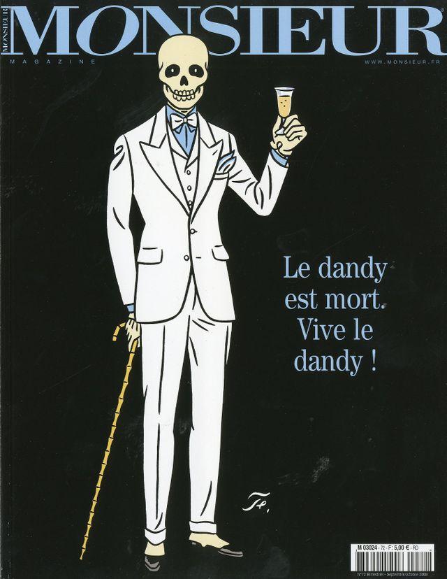 Couverture de Monsieur numéro 72 par Floc'h, présentée dans l'exposition Mode et BD